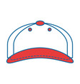 cap sport isolated icon vector image