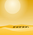 Caravan With Sand Dunes vector image