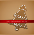 christmas card - gingerbread tree vector image