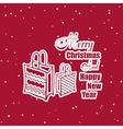 Christmas Sticker Gifts vector image vector image