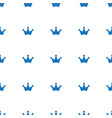 crown icon pattern seamless white background vector image vector image