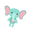 cute soft baby elephant plush toy stuffed cartoon vector image vector image