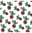 doodle healthy onion fresh vegetable background vector image