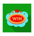emblem winner in casino in form of vector image