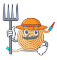 farmer water hose character cartoon vector image