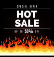 fire sale background vector image vector image