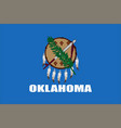 flag of oklahoma usa vector image