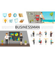 flat business people concept vector image vector image