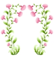 Flower arch vector image vector image