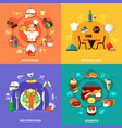 food spot compositions set vector image vector image