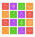 Fruits Thin Line Icons vector image vector image
