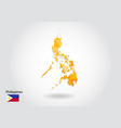 geometric polygonal style map of philippines low vector image