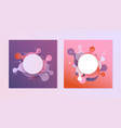 gradient banners set - fluid color abstract vector image vector image