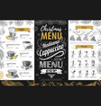 hand drawing christmas holiday menu design vector image vector image