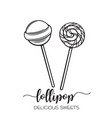 hand drawn lollipop candy vector image