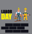 happy labor day banner design template vector image