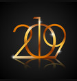 happy new year 2019 golden text design for your vector image vector image