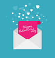happy valentines day flat vector image vector image