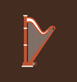 harp flat icon classic music instrument vector image