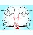heart surgery vector image vector image