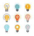 ideas bulb symbols creative tech innovation vector image