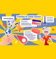 informational banner traveling for senior sitizens vector image vector image
