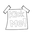Inscription Kick me icon outline style vector image vector image