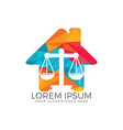 law house logo design vector image