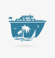 liner at pier in tropics vector image vector image