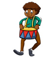 Man with a drum vector image vector image