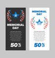 memorial day sale banner vector image vector image