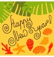 New year in the tropics vector image