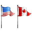 North america flagpoles vector | Price: 3 Credits (USD $3)