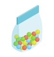 Package candy isometric 3d icon vector image vector image