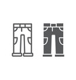 pants line and glyph icon clothing and casual vector image vector image