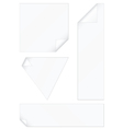 peeled corners stickers set vector image vector image