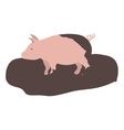 pink pig icon vector image