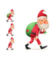 pleased happy satisfied christmas santa claus vector image vector image