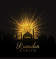 ramadan background with gold glitter vector image vector image
