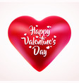 red valentine heart isolated on white background vector image vector image