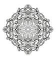 rhombus ornamental mandala with cross in middle vector image vector image