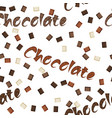 seamless chocolate background vector image vector image
