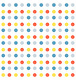 seamless pattern with colorful dots cartoon style vector image vector image