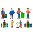 set of characters on ecology issues vector image