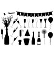 set of different new year s eve objects vector image vector image