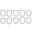 set outline badge shape vector image