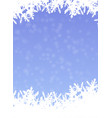snowflake background in cover paper design vector image vector image