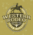 team roping western cowboy rodeo vector image