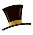 top hat icon cartoon style vector image