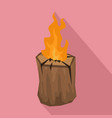 tree wood fire icon flat style vector image vector image